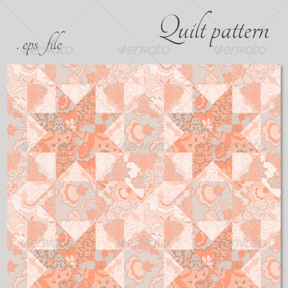 Quilt Seamless Pattern Background Star Shape