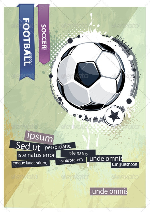 Grunge football illustration - Vectors