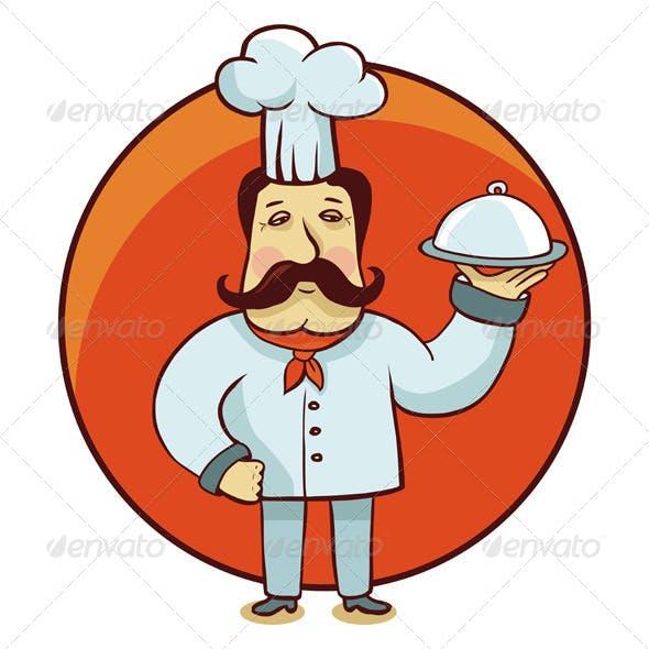 Vector Cartoon Character Chef
