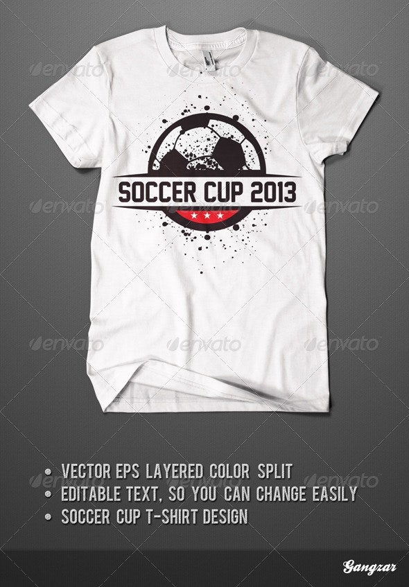 Soccer Cup T-Shirt Design - Sports & Teams T-Shirts