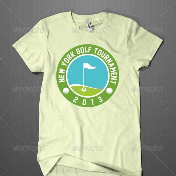Golf Tournament T-shirt Design