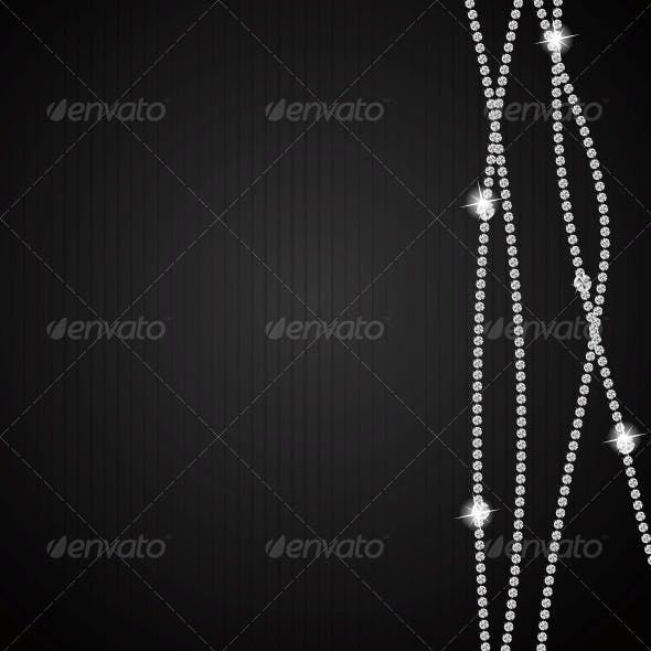 Abstract Black Diamond Vector