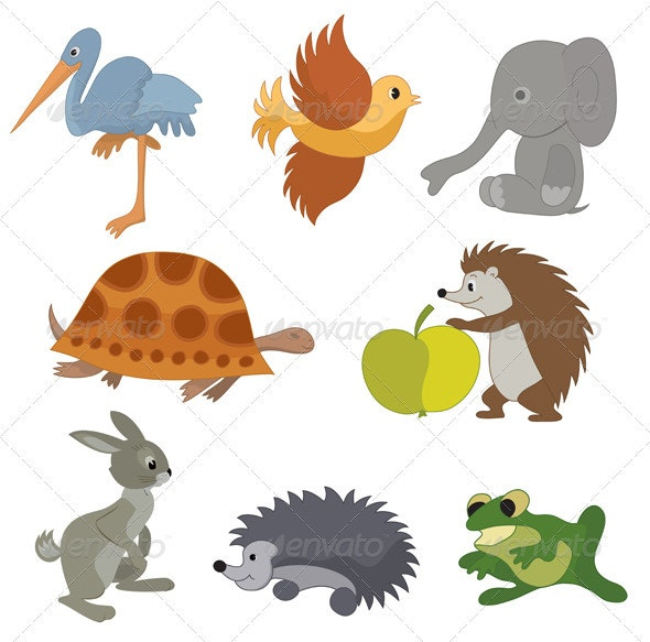 Set of vector small animals - Animals Characters