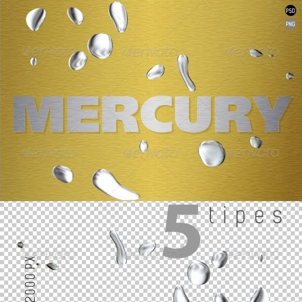 Mercury (Liquid Metal) on Transparent Backgrounds