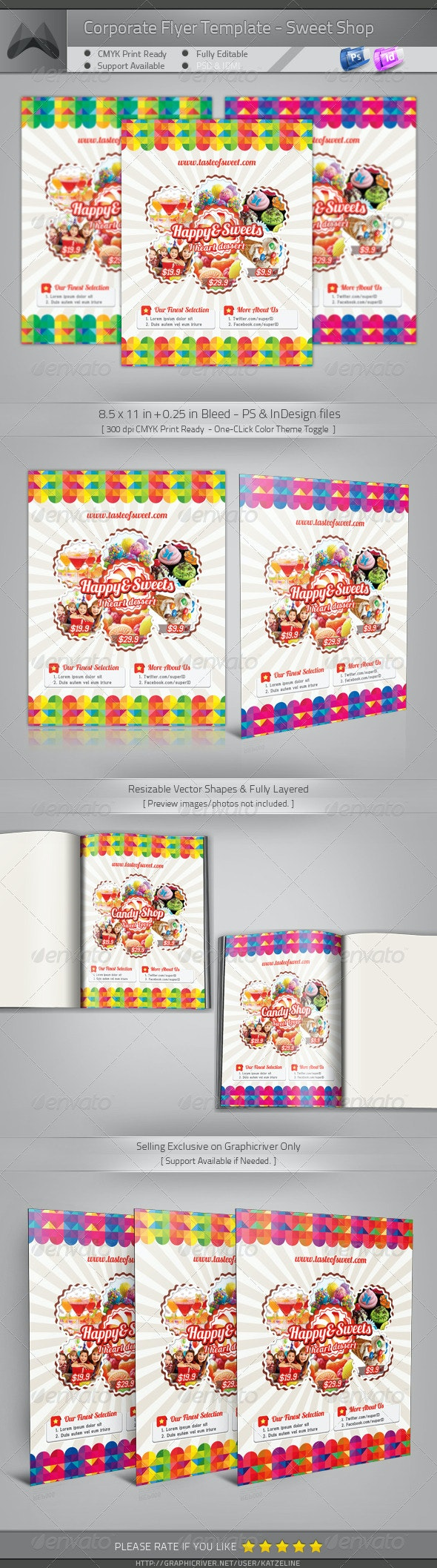 Corporate Flyer - Candy Love - Commerce Flyers