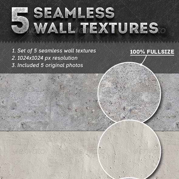 5 Seamless Wall Textures