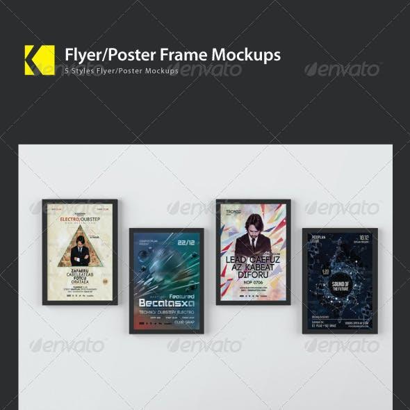 Flyer/Poster Frame Mockups