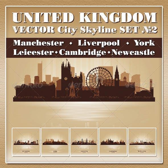 Vector City Skyline. United Kingdom. Set Number 2