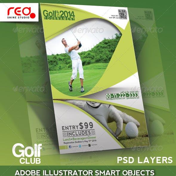 Golf Club Flyer, Poster & Magzine Template