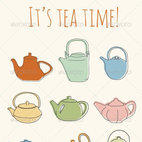 9 Colorful Teapots