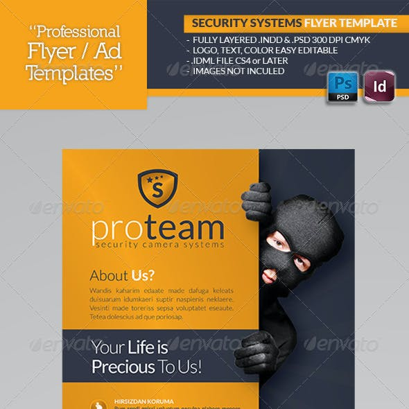 Security Systems Flyer Template