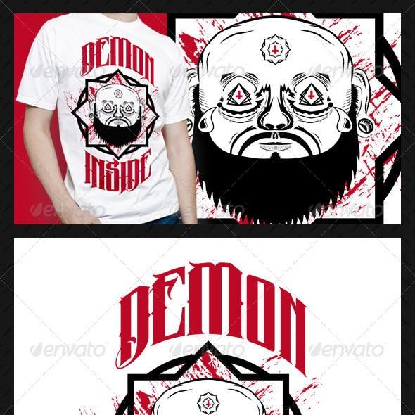 Demon Inside T-Shirt Design