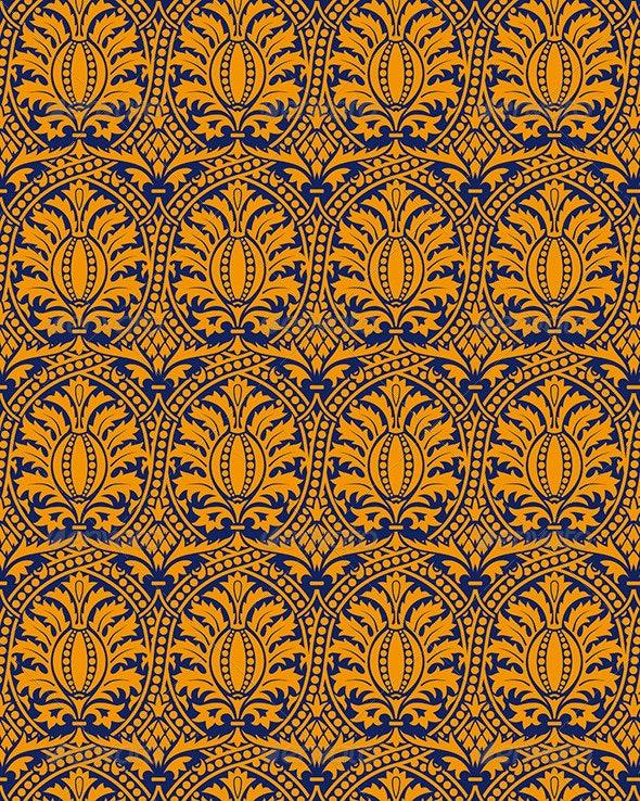 Classic Seamless Pattern Yellow - Patterns Decorative