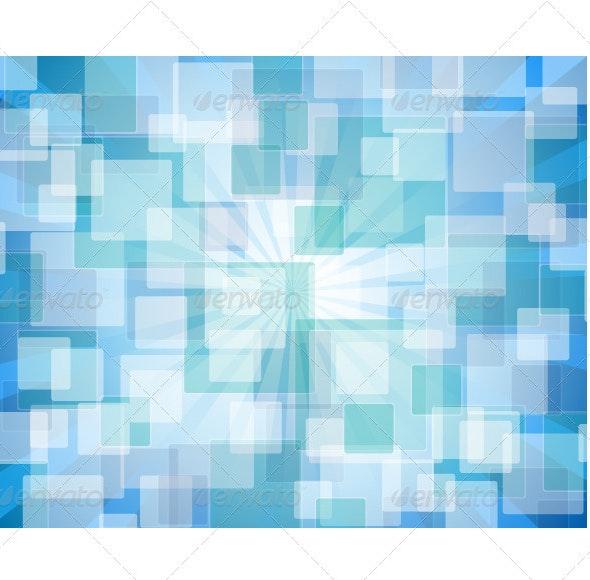 Blue Abstract Bokeh - Abstract Conceptual