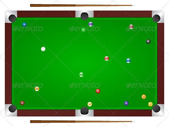 Billiards Table - Abstract Conceptual