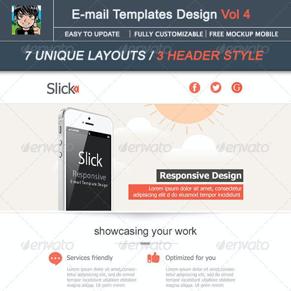 Slick - E-mail Template Design Vol 4