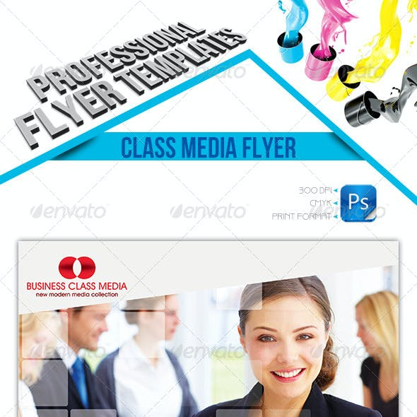Business Class Media Flyer Template