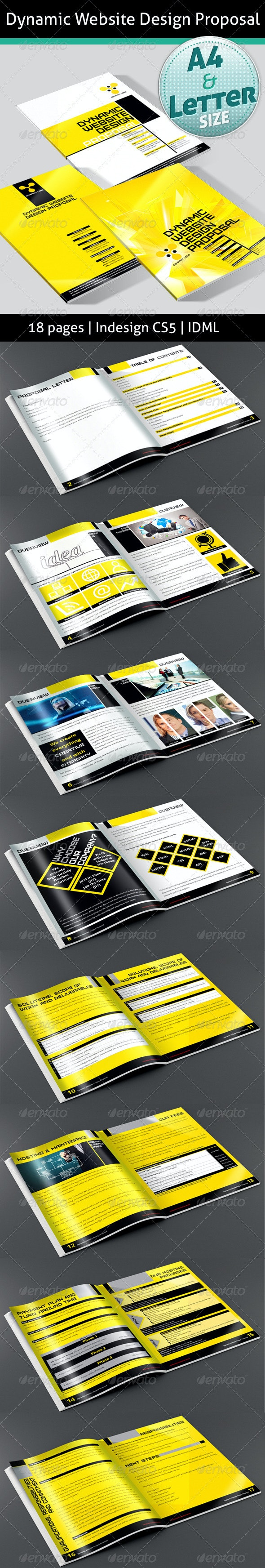 Dynamic Website Project Proposal - Proposals & Invoices Stationery