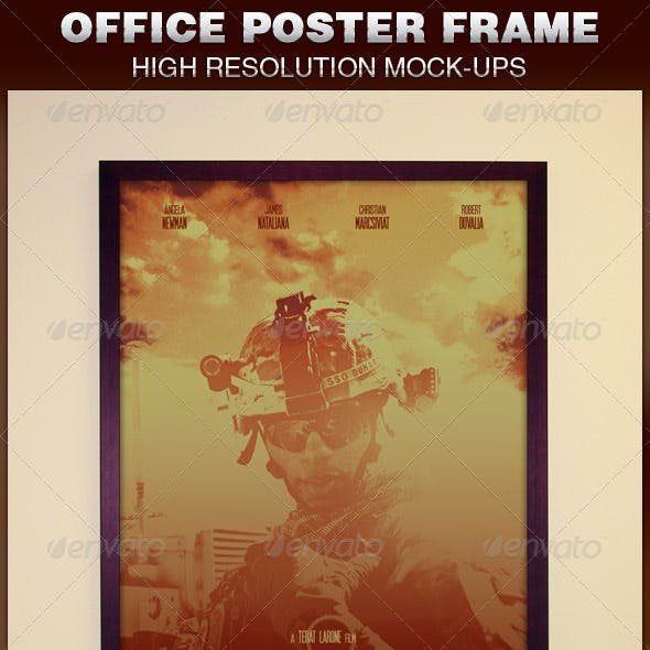 Office Frame Poster Mockup Template