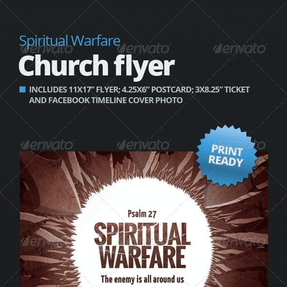 Spiritual Warfare Church Flyer +Plus