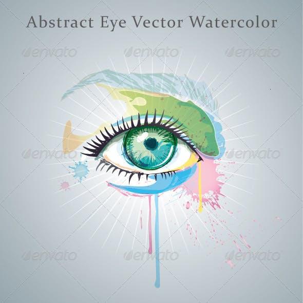 Abstract Eye Vector Watercolor