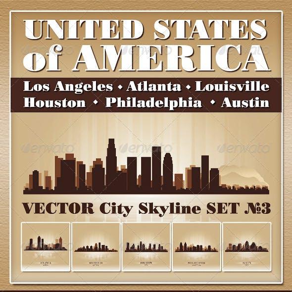 Vector City Skyline USA Set Number 3