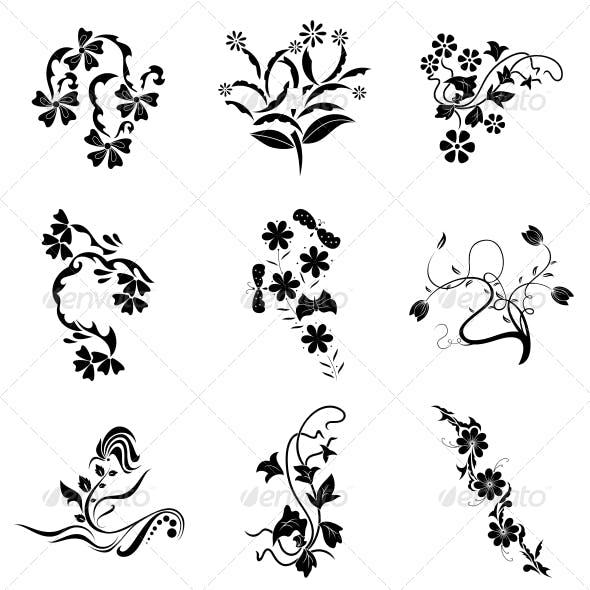Decorative Floral Elements - Vector Pack