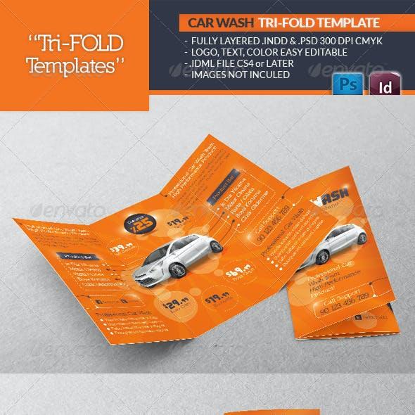 Car Wash Tri-Fold Template