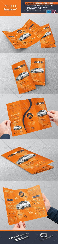 Car Wash Tri-Fold Template - Catalogs Brochures