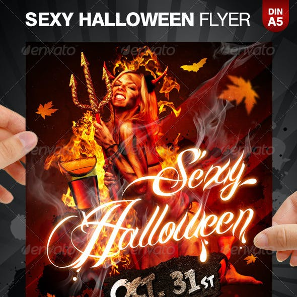 Sexy Halloween Party Flyer