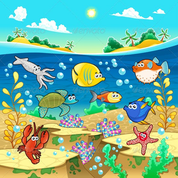 Family of Fish in the Sea.