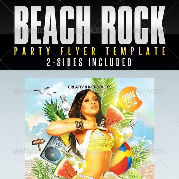 Beach Rock Party Flyer Templates