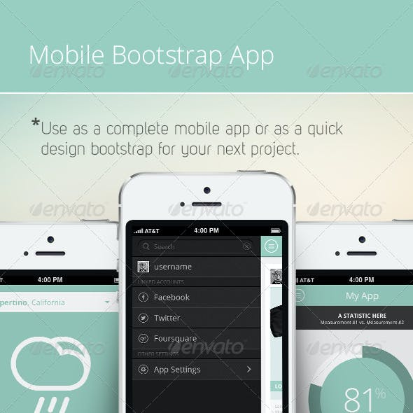 Bootstrap Mobile Phone UI / App
