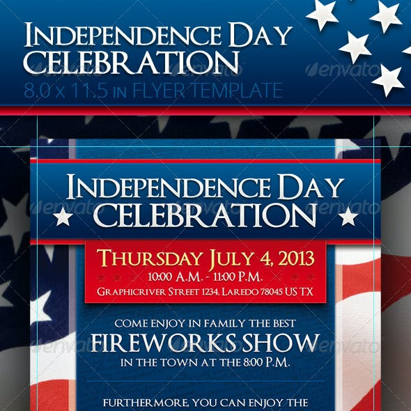 4th Of July - Independence Day Flyer Template