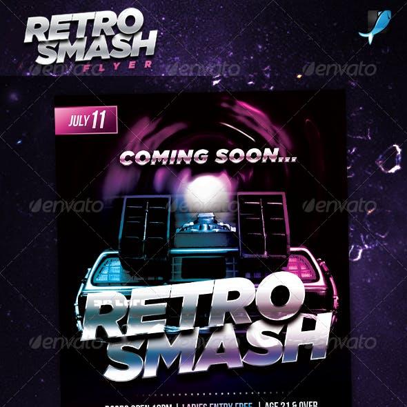 80's Retro Smash Party Flyer