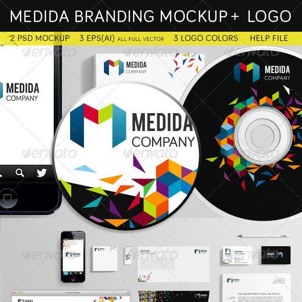 Medida Branding Mockup + Logo