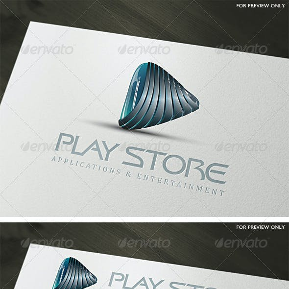 3D Play Store Logo Template