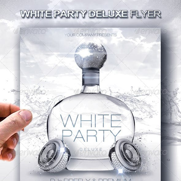 White Party Deluxe Flyer