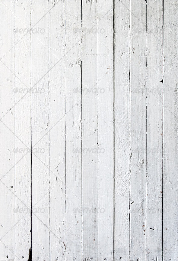 Ten White Texture of Wooden a Planks - Wood Textures