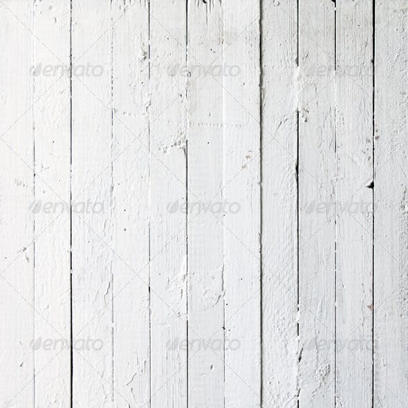 Ten White Texture of Wooden a Planks
