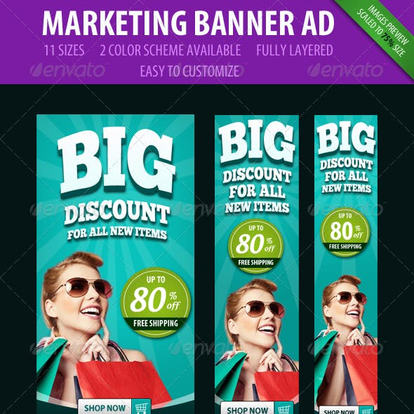 Marketing Banner ad - 3D style