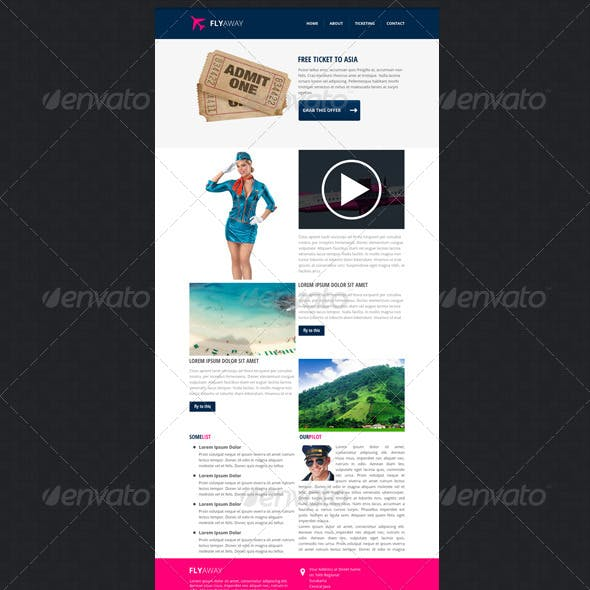 flyaway - PSD Email Newsletter Template