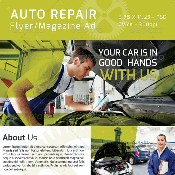 Auto Repair Flyer/ Magazine Ad
