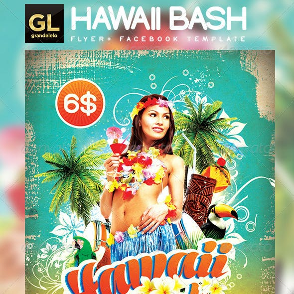 Hawaii Flyer & Facebook Temeplate