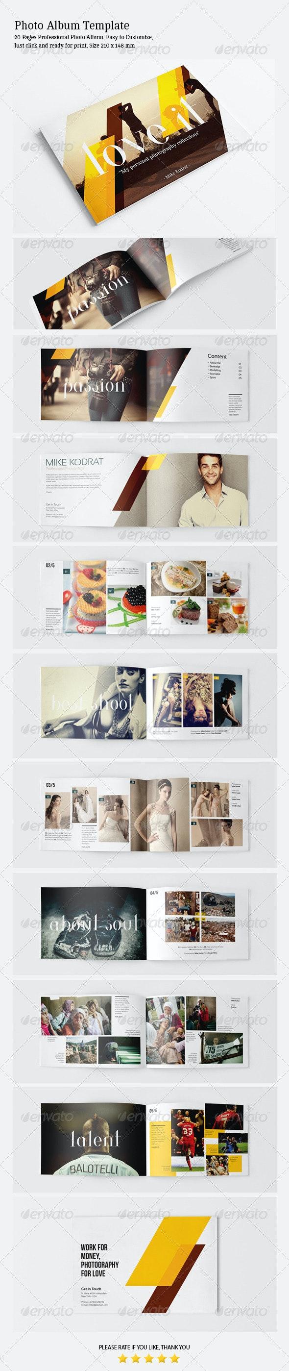 Photo Album Template - Photo Albums Print Templates