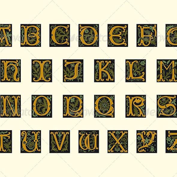 Alphabet of Early 16th Century