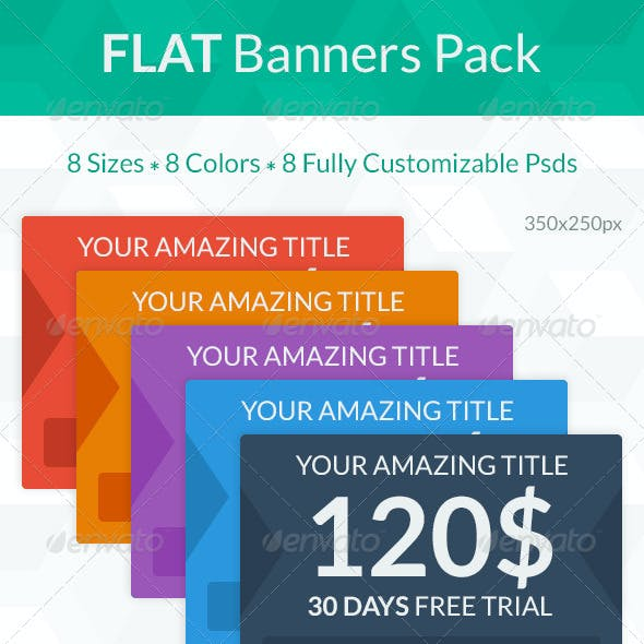 Flat Banners Pack