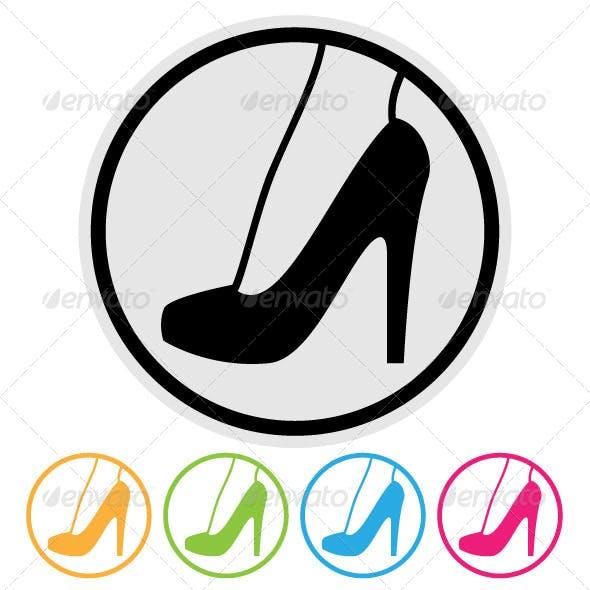 High Heel Shoe Symbol
