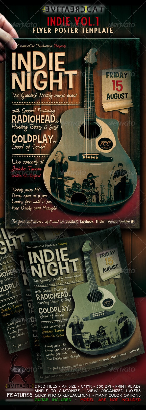 Indie Flyer / Poster VOL.1 - Events Flyers