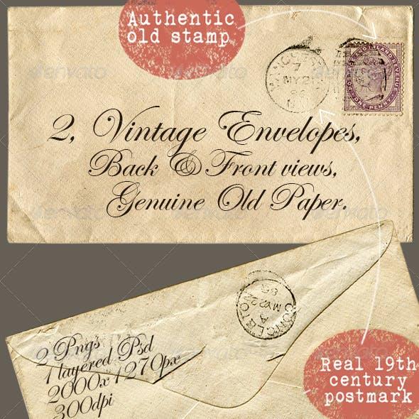 2 Vintage Envelopes